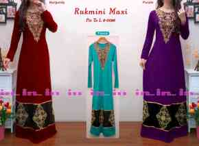 rukmini maxidress 8 0026 155rb rayon spdx super komb saten hitam bordir tempel fit to l po ready 08nov