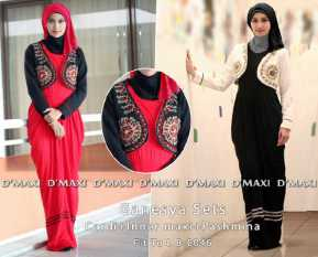 ganesya sets 8 0046150rb maxi sleeveless rayon spdx super wedges cardigan pashmina hycon po 21 nov