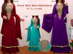 kevia sets 9 0041 165rb rayon spdx super with tile layer on waist downpashmina pre order 23 nov